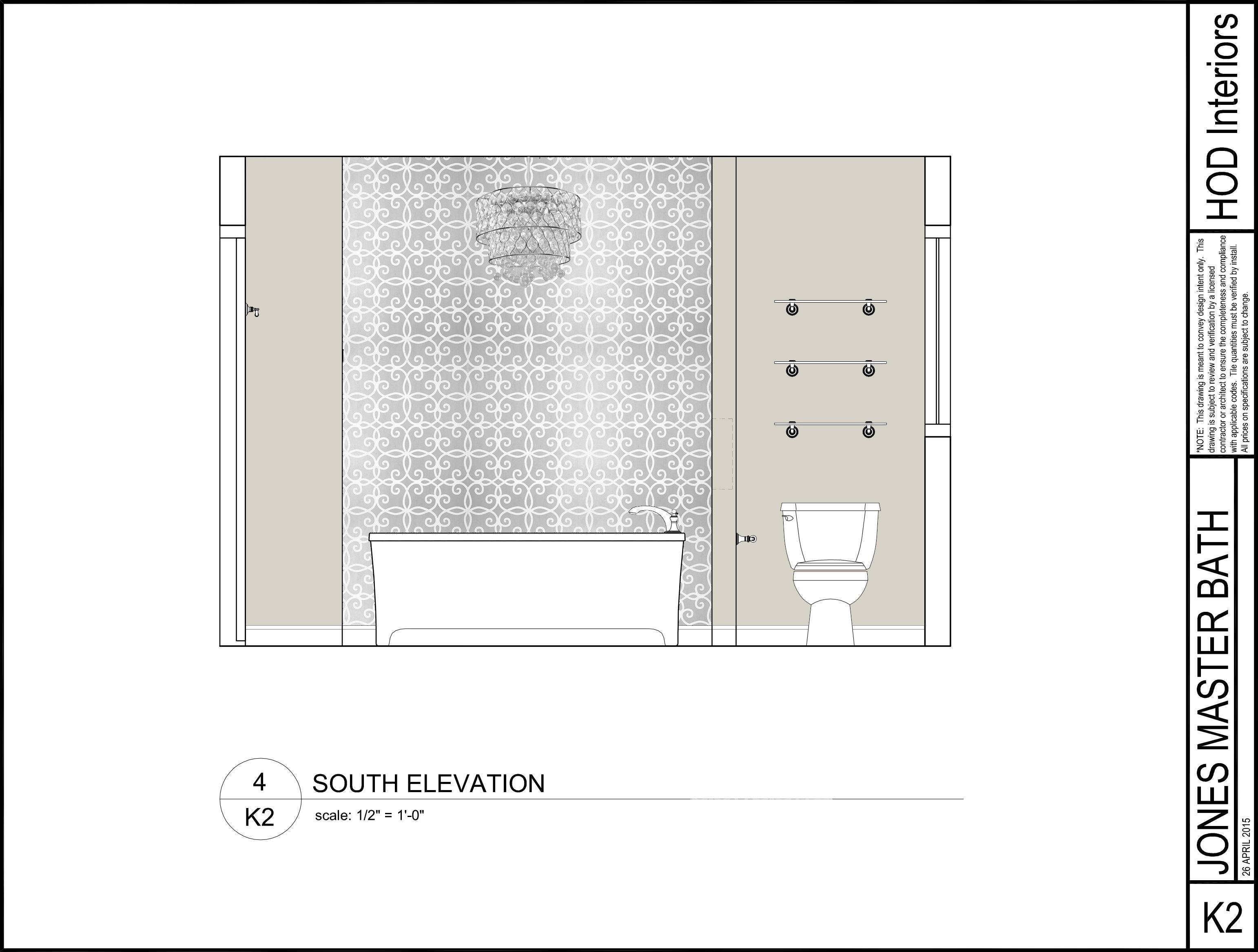 Photoshop Bathtub Elevation Laura Jones Design Service