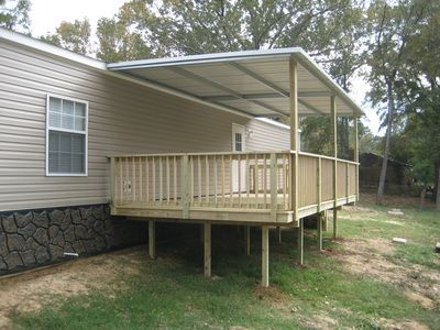 Back Porch Covered By Rust Resistant Galvanized Steel