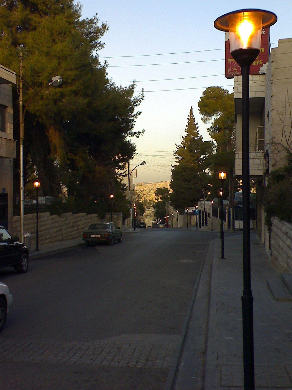 Rainbow street in Amman Jo Amman, Jordan country