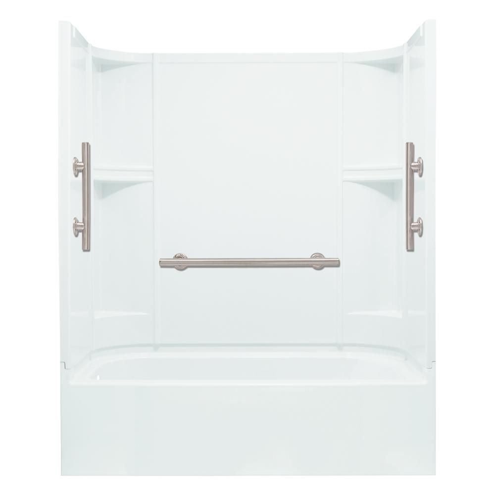 Sterling Accord 30 In X 60 In X 72 In Bath And Shower Kit Left