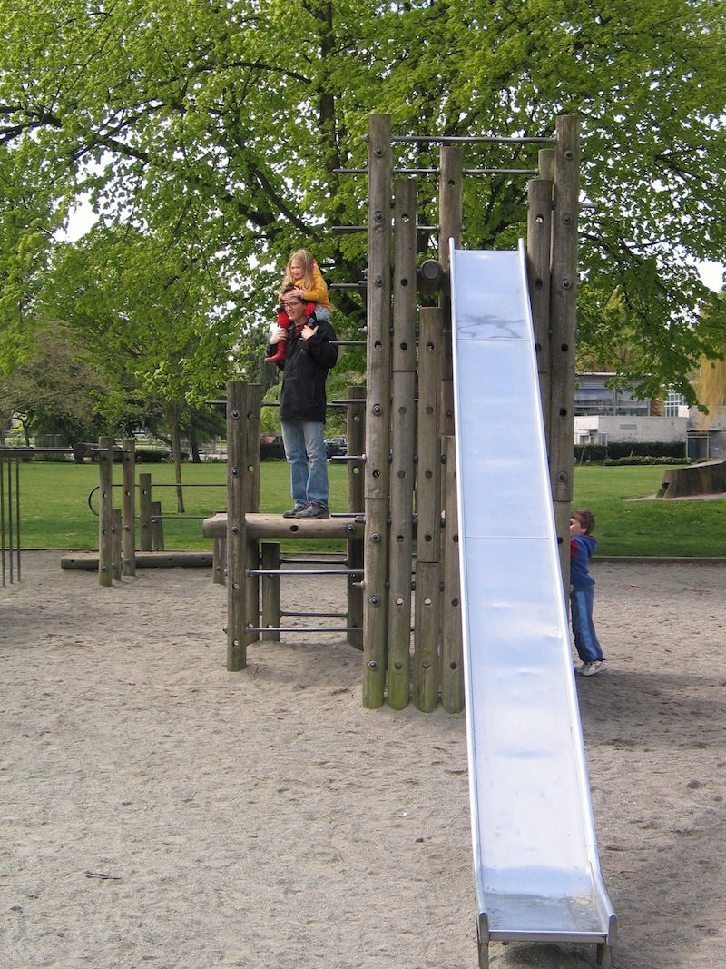 parks utilizing trees with play equipment - Google Search