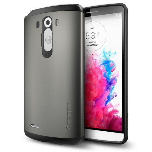 Spigen® [AIR CUSHION] LG G3 Case [Slim Armor] [Gunmetal] Air Cushioned Dual Layer Protective Case for LG G3 (2014) - Gunmetal (SGP10867) Spigen,http://www.amazon.com/dp/B00JQI2J2E/ref=cm_sw_r_pi_dp_WgLGtb1P454F75DE