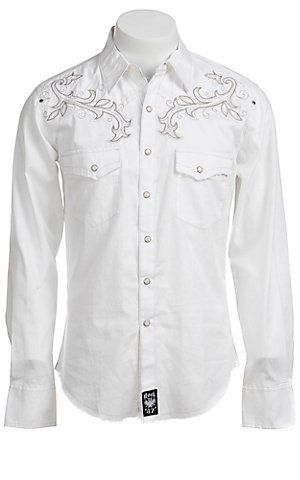 Wrangler Mens Rock 47 Western Shirt MRC145W  9c35a308572