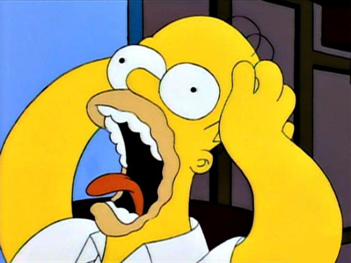 Image result for homer simpson shocked