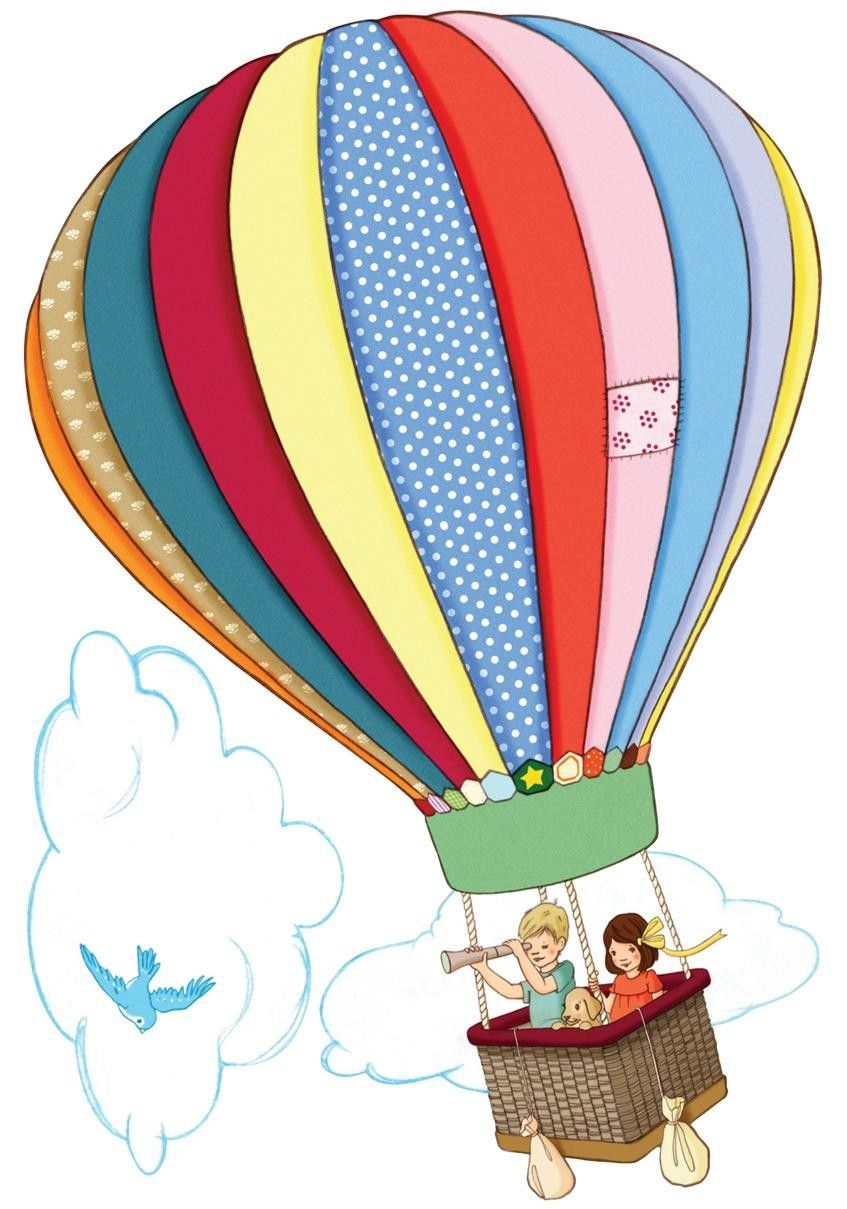 Hot Air Balloon Art Illustration Air Balloons