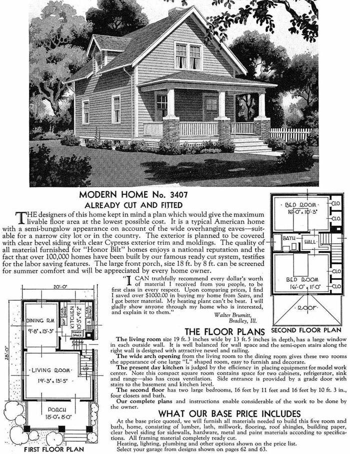 Sears Homes 1908–1940. The Dayton.....closest design similar to our ...