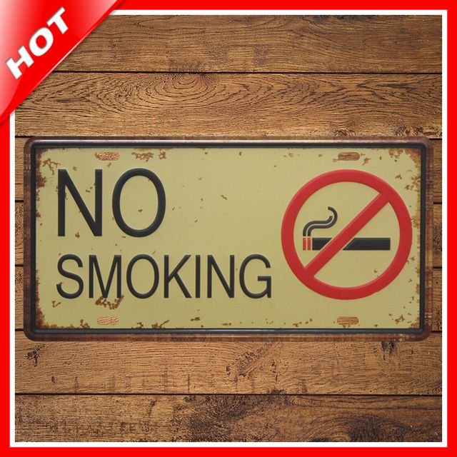 Metal Decorative Signs Brilliant Shabby Chic No Smoking Vintage Tin Sign Vintage Metal Sign Placas Decorating Inspiration