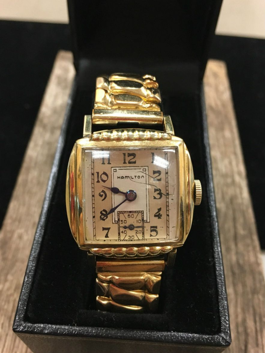 10 Karat Yellow Gold-Plated Vintage Hamilton Men's Watch - Repair Palace