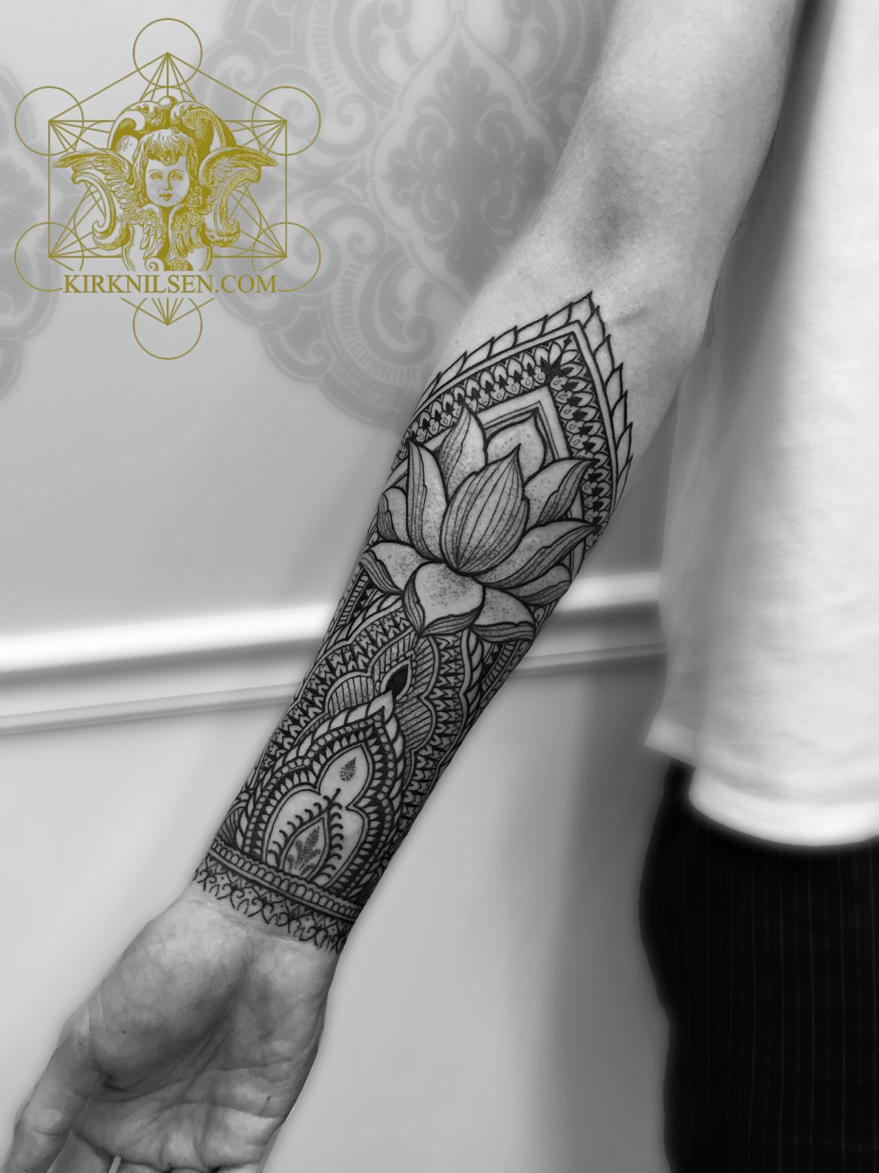 Kirk Edward Nilsen Ii Geometric Mandala Tattoo Photo Forearm Tattoos Inner Forearm Tattoo Henna Style Tattoos