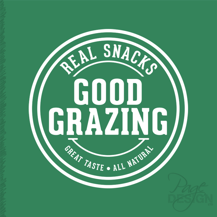 Logo design for Good Grazing - real snacks, great taste, all natural. Rotorua, New Zealand