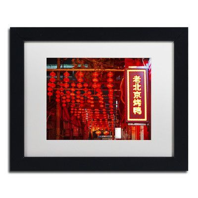"Trademark Art ""Redlight"" by Philippe Hugonnard Framed Photographic Print Matte Color: White, Size: 11"" H x 14"" W x 0.5"" D"