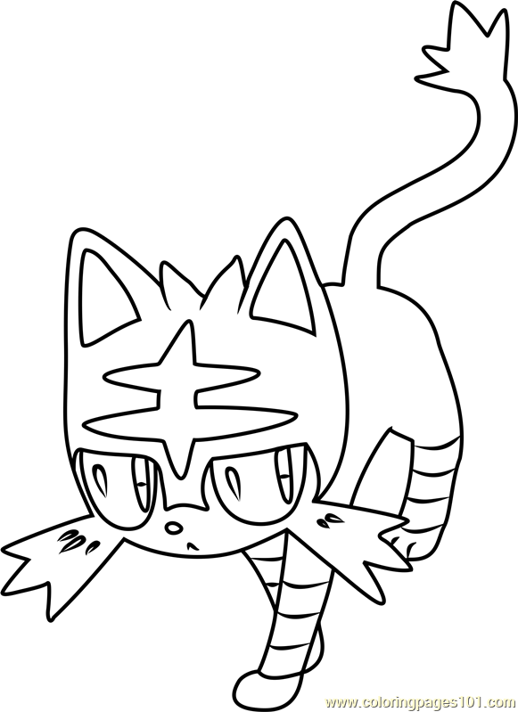 Litten Pokemon Sun And Moon Coloring Page Moon Coloring Pages Pokemon Coloring Pages Pokemon Coloring Sheets