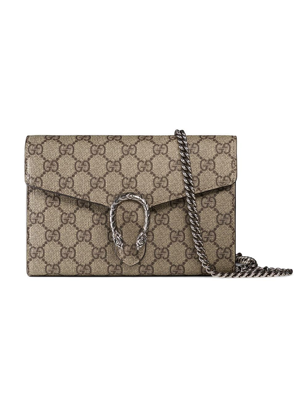 6aadf5727 Gucci Dionysus GG Supreme chain wallet - Neutrals in 2019   Products ...