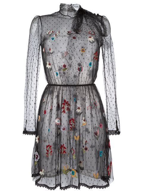 358f2ad96b6 RED VALENTINO Floral Embroidered Tulle Dress.  redvalentino  cloth  dress