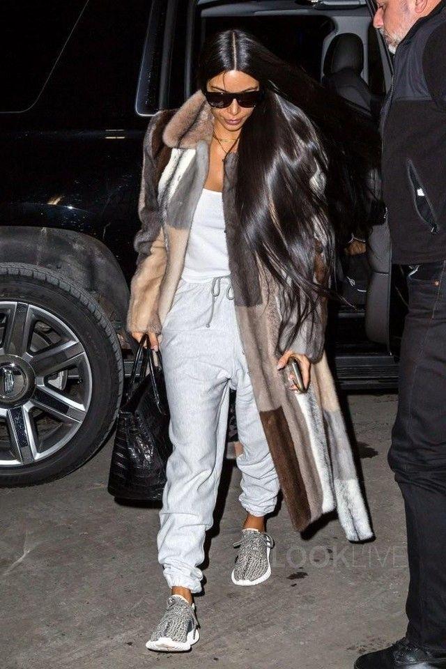 Kim Kardashian wearing Adidas Yeezy Boost 350 f9072c756