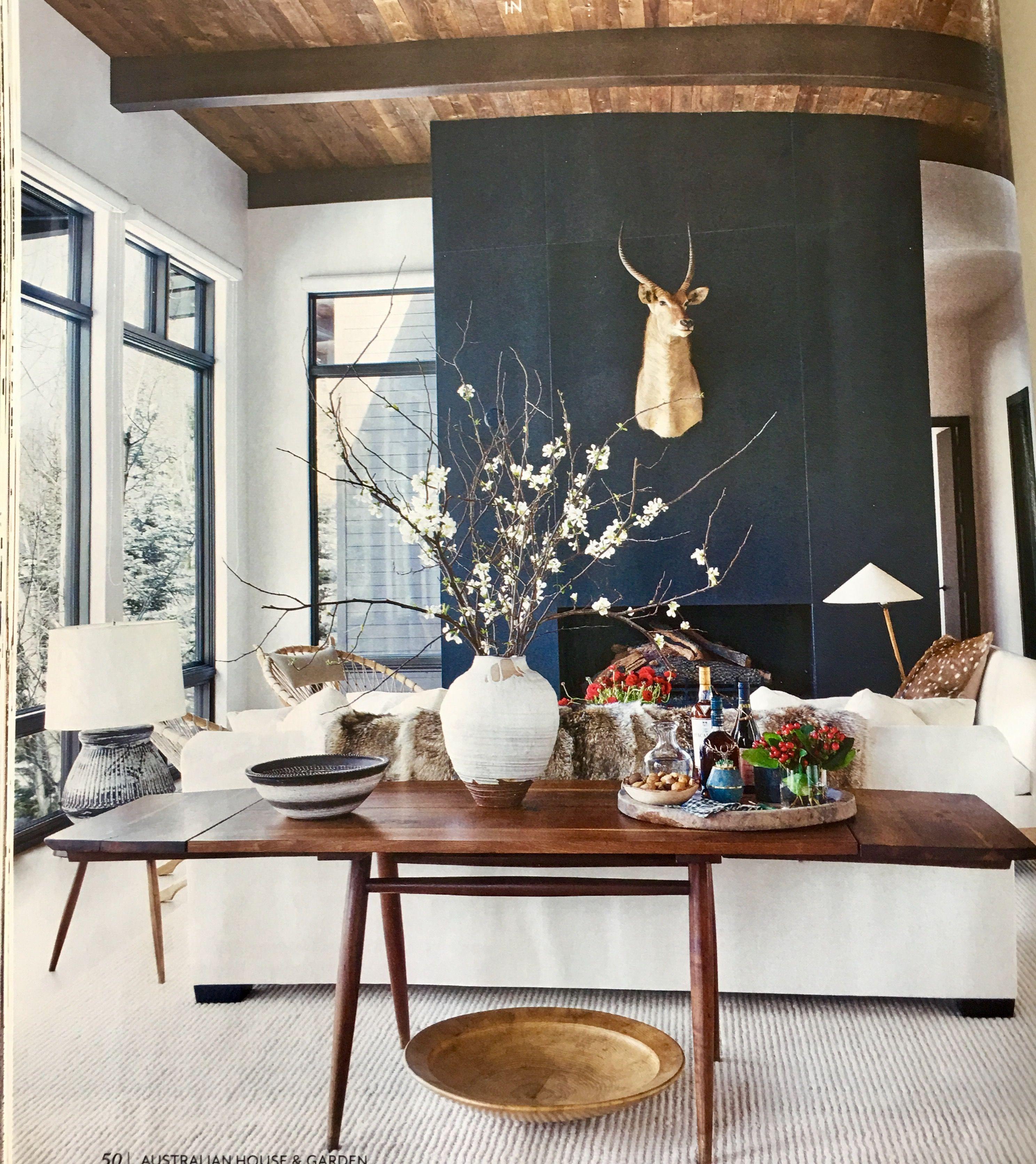 australian house and garden  farm house living room