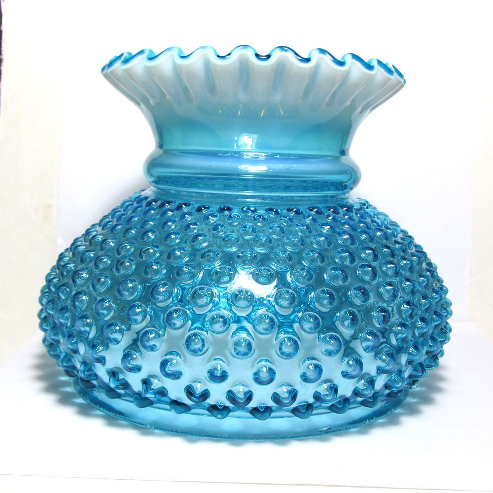 Fenton Blue Opalescent Hobnail Art Glass Gone With The ...