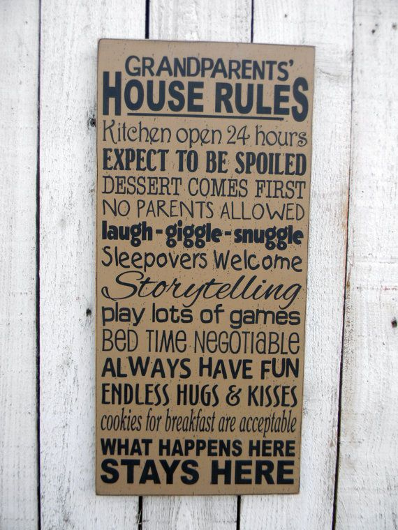 Grandparents' House Rules  typography word art by AmericanAtHeart, $46.00