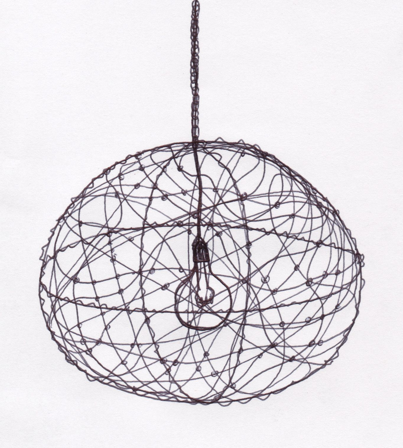 Diy for this beautiful wire lampshade bails pinterest wire diy for this beautiful wire lampshade greentooth