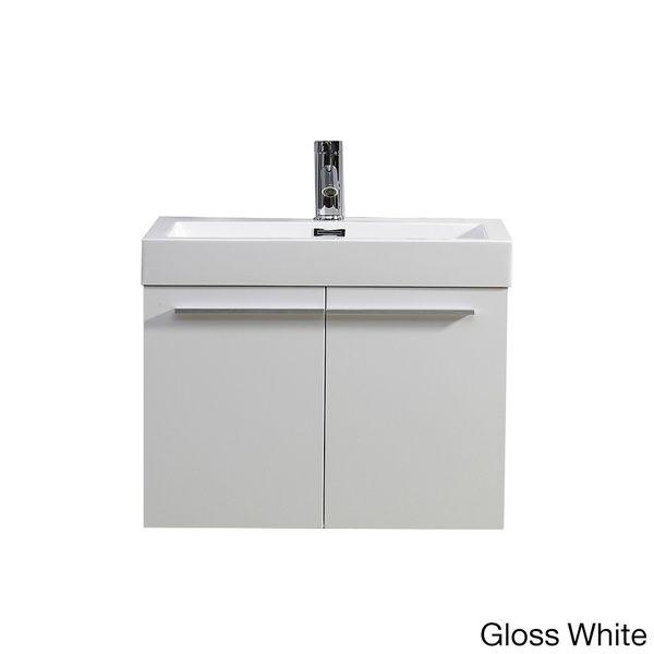 Virtu USA Midori 24 Inch Single Sink Bathroom Vanity Set   Overstock™  Shopping