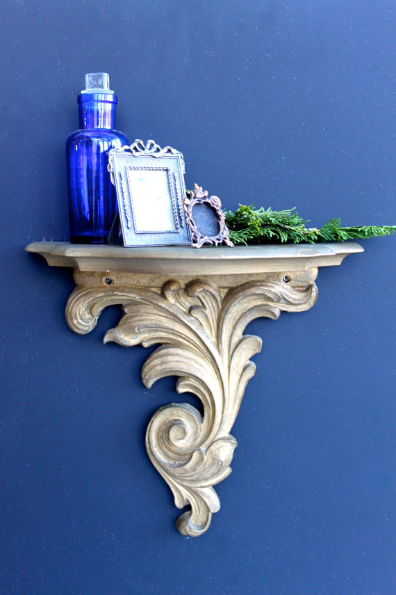 Vintage Gilded Wall Sconceshelf Dream Home Pinterest Wall