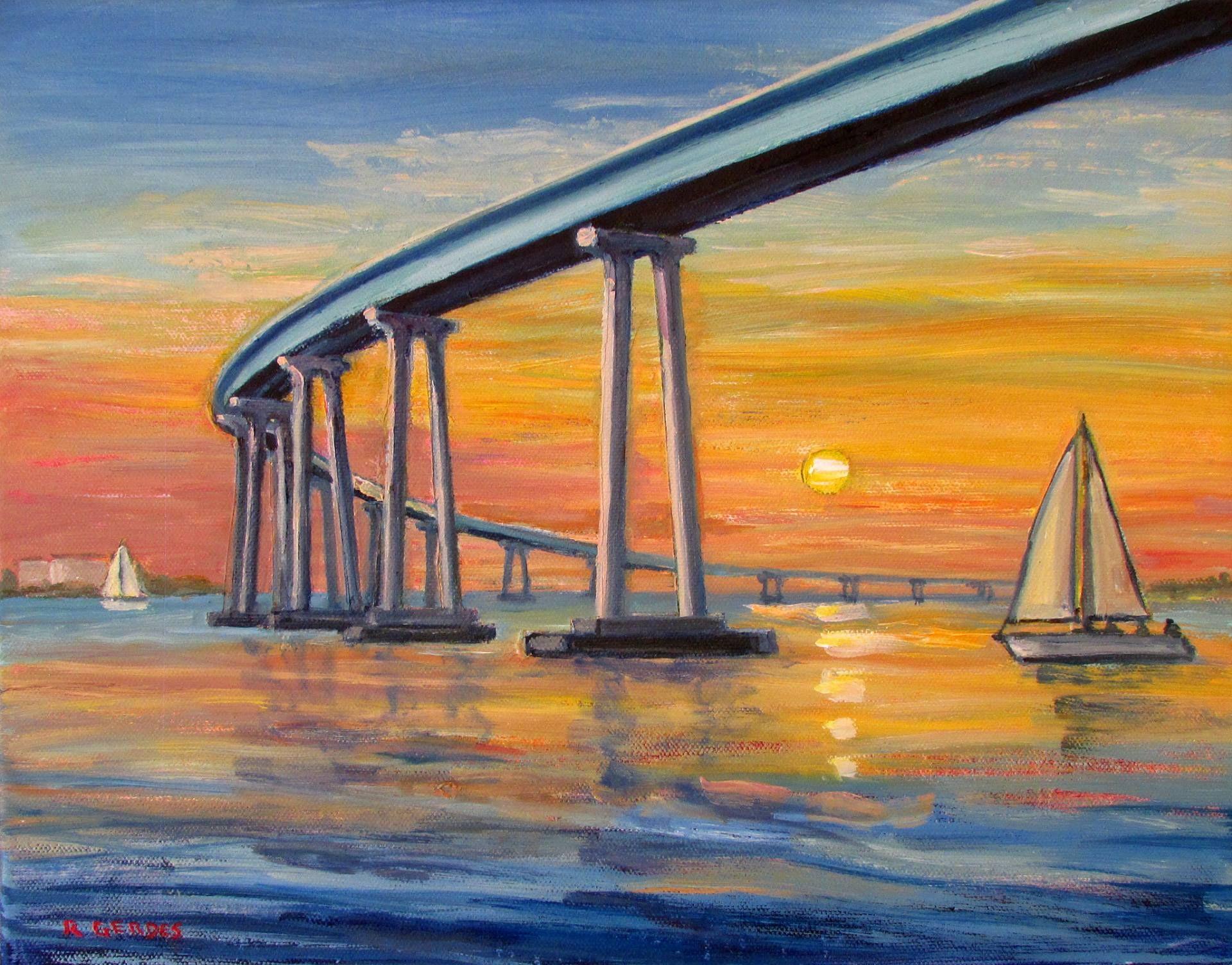 4cbc332681 Buy Prints of Coronado Bridge and Sailboat at Sunset