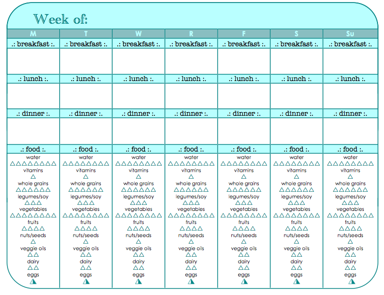 food and exercise tracker printable fitness fitness workout