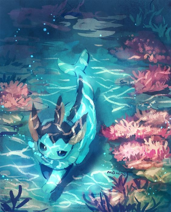 Cute Eeveelution Wallpaper Vaporeon Art Pokemon Pokemon Pokemon Eevee Pokemon