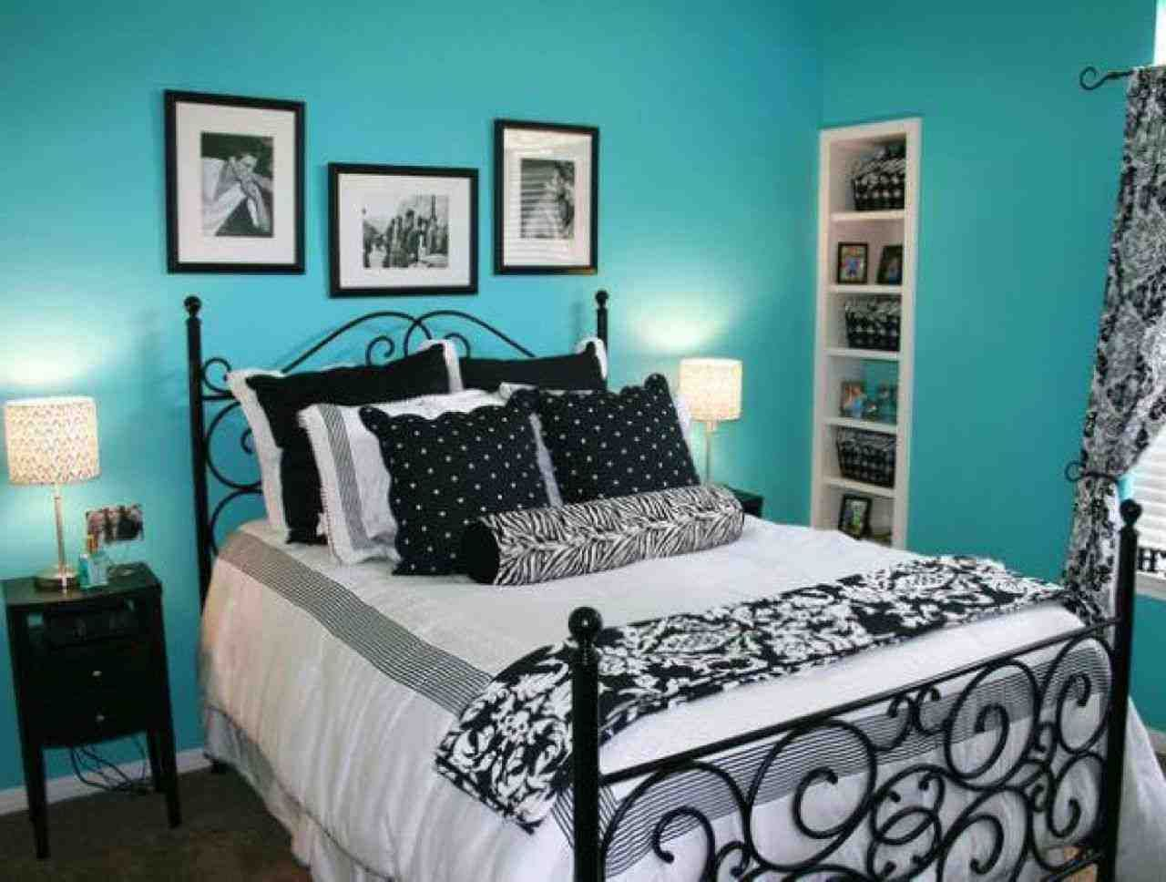 Black White And Teal Bedroom Turquoise Room Tiffany Blue Bedroom Woman Bedroom