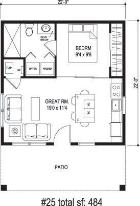 Sidekick Homes Floor Plans By Square Foot Tiny House Floor Plans House Floor Plans Guest House Plans