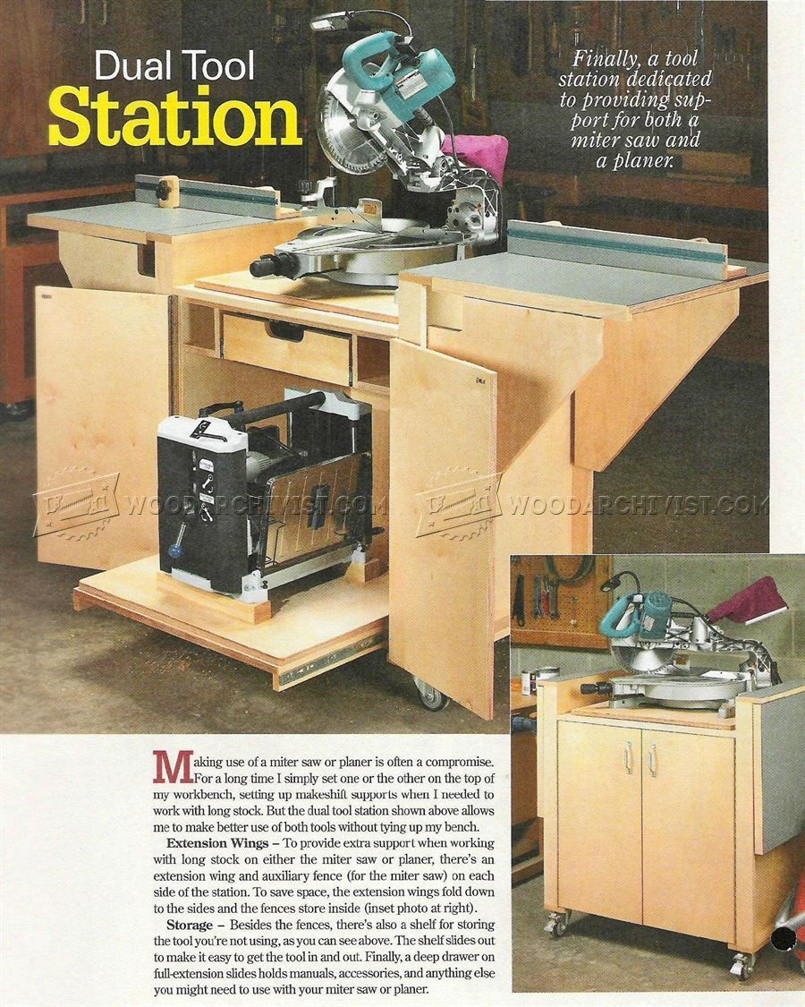 Build Miter Saw Station Miter Saw Planer Miter Saw Woodworking Woodworking Projects Plans