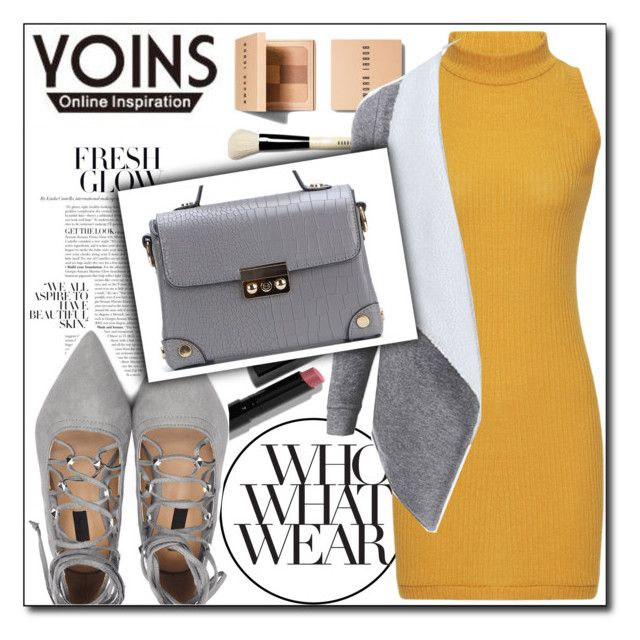 """YOINS 1/1"" by tamsy13 ❤ liked on Polyvore featuring Bobbi Brown Cosmetics, Who What Wear, yoins, yoinscollection and loveyoins"