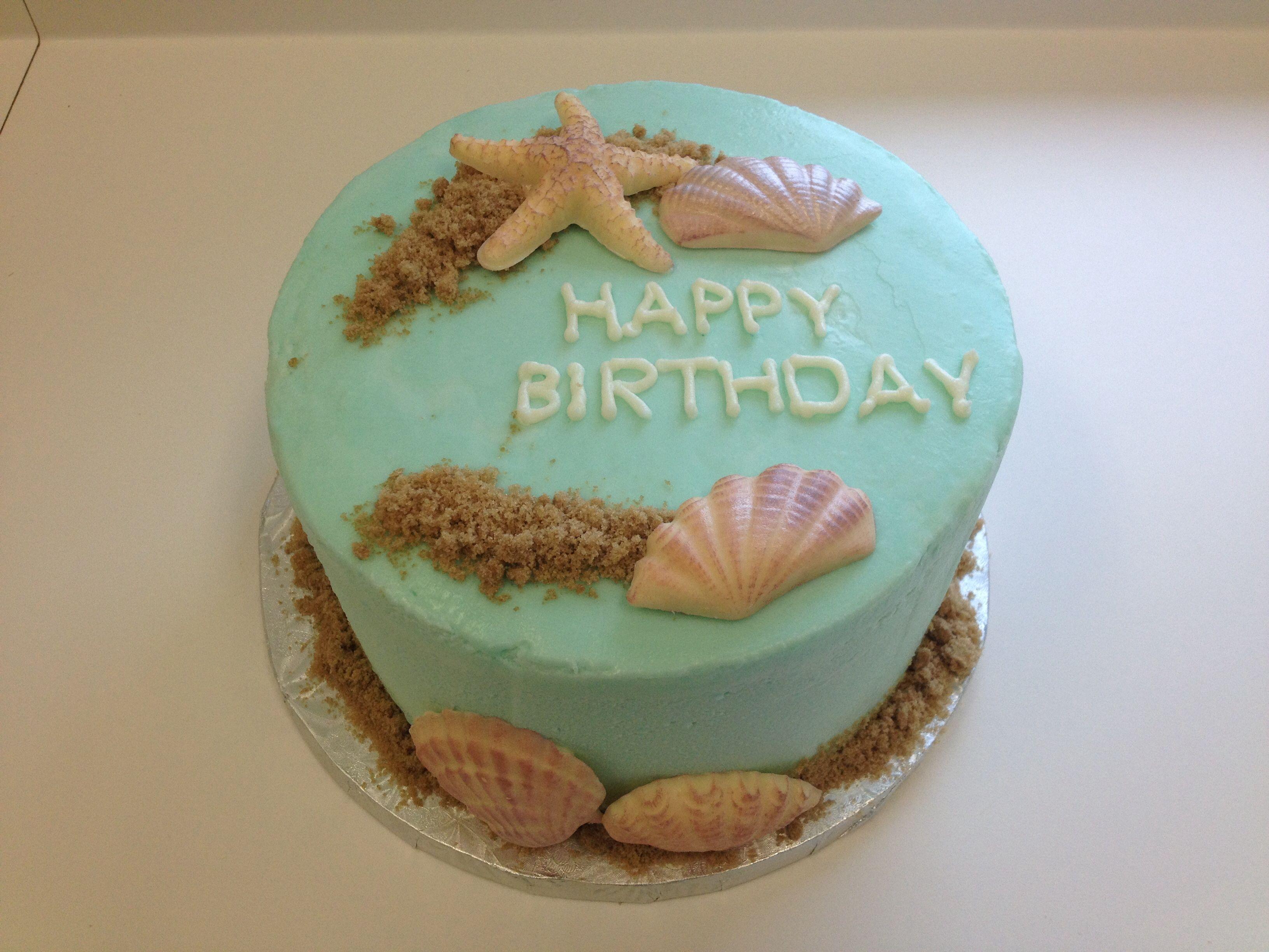 Seashell Birthday Cake Seasons Celebrations Pinterest Cake