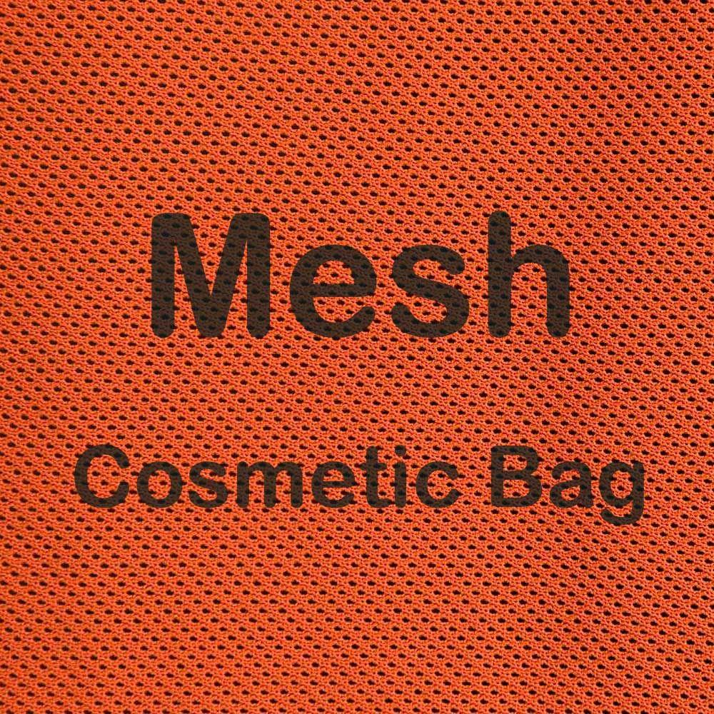 Pin on Mesh Cosmetic Bag