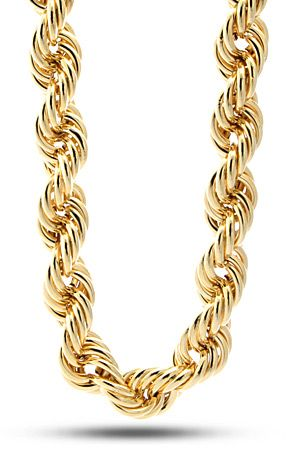 King Ice 20mm Run DMC Yellow Gold Rope Dookie Chain  a29a78d63de4