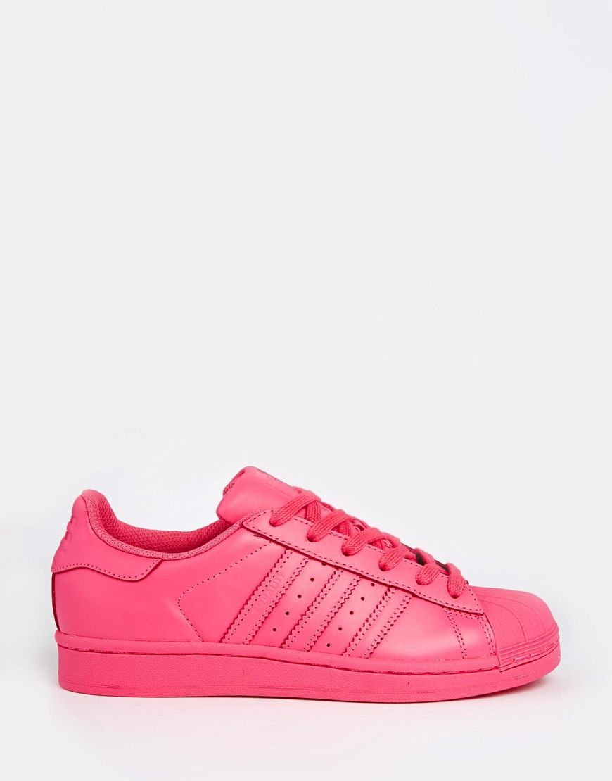 Imagen 2 de Zapatillas de deporte en color rosa Supercolour Semi Solar de  Adidas Originals Pharrell