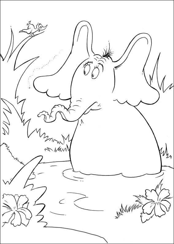 Malvorlagen Horton 11 | Ausmalbilder für kinder | Pinterest | Bilder ...