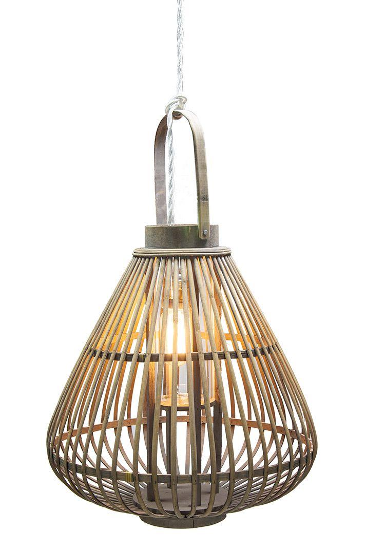 Lámparas De Bambú Colgantes Shira Lighting Lampara De