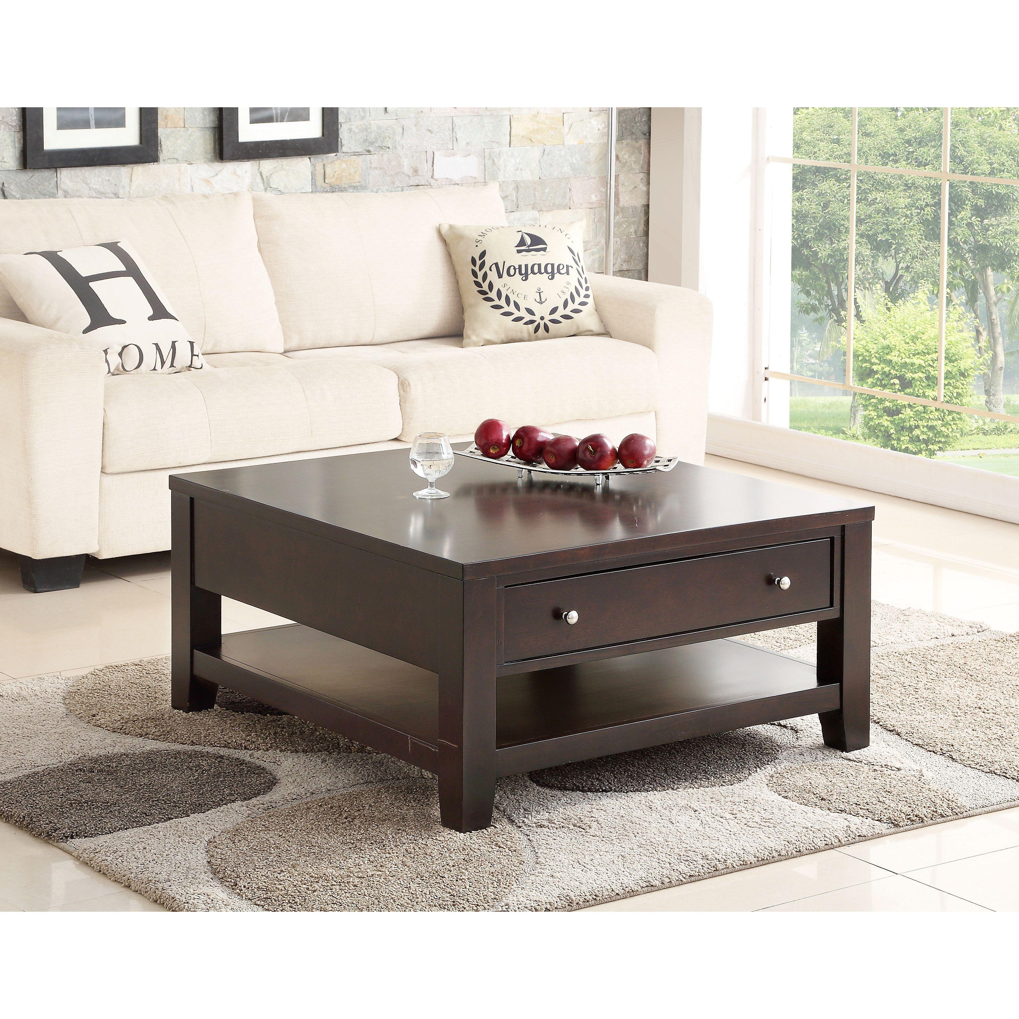 Square coffee table espresso - Abbyson Living Clarkston Espresso Rubberwood Square Coffee Table Coffee Table Brown