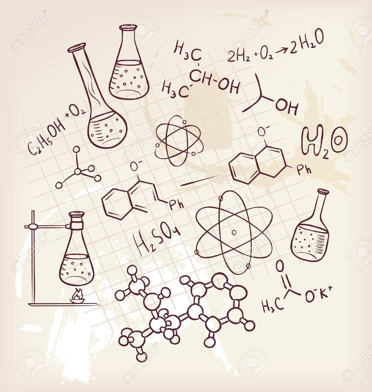 Vector illustration of hand draw chemistry on background royalty vector illustration of hand draw chemistry on background ccuart Gallery