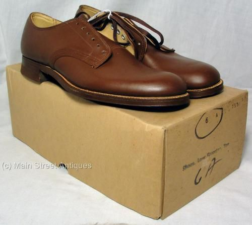 US Army Women s WAC Tan Leather Low Quarter Shoes Size 6 A MIB with ... be597667cc