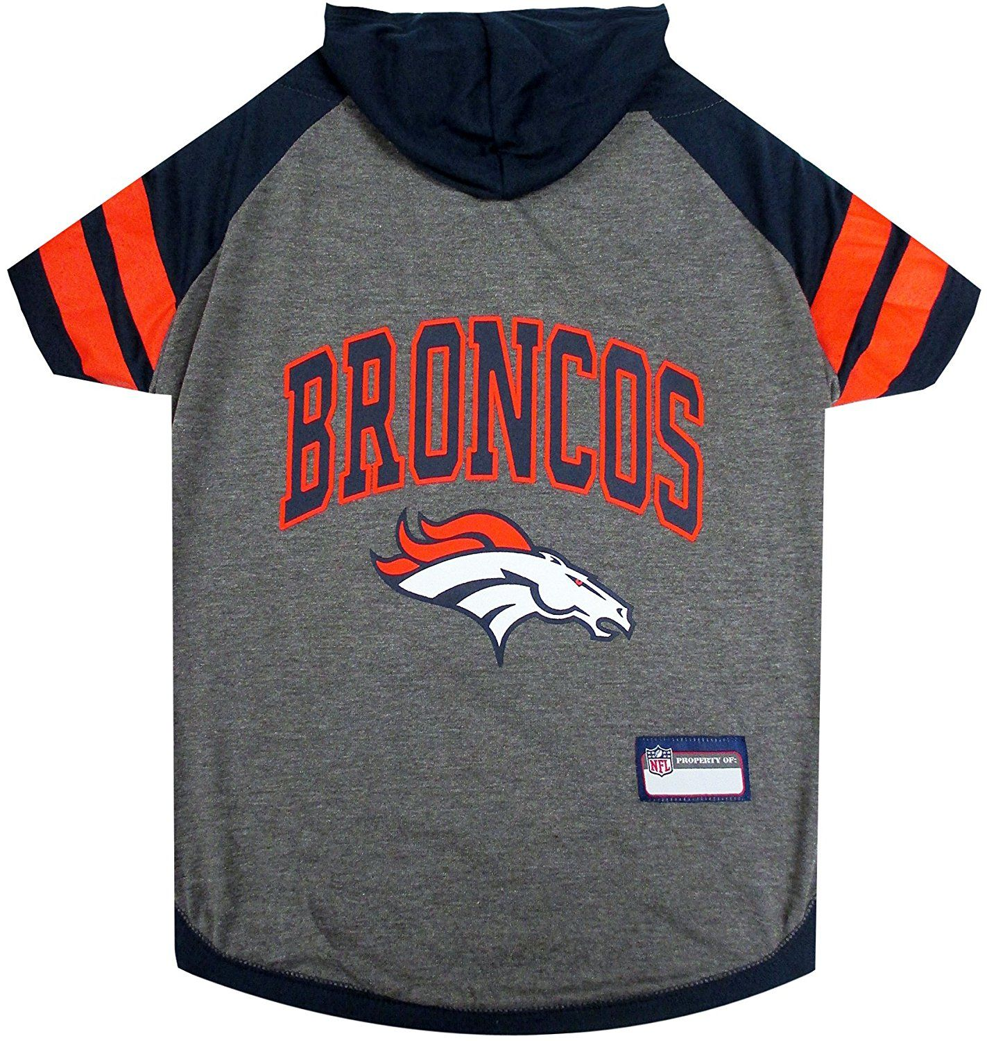Pets First Denver Broncos Hoodie T-Shirt * Unbelievable dog item right here! : Dog shirts