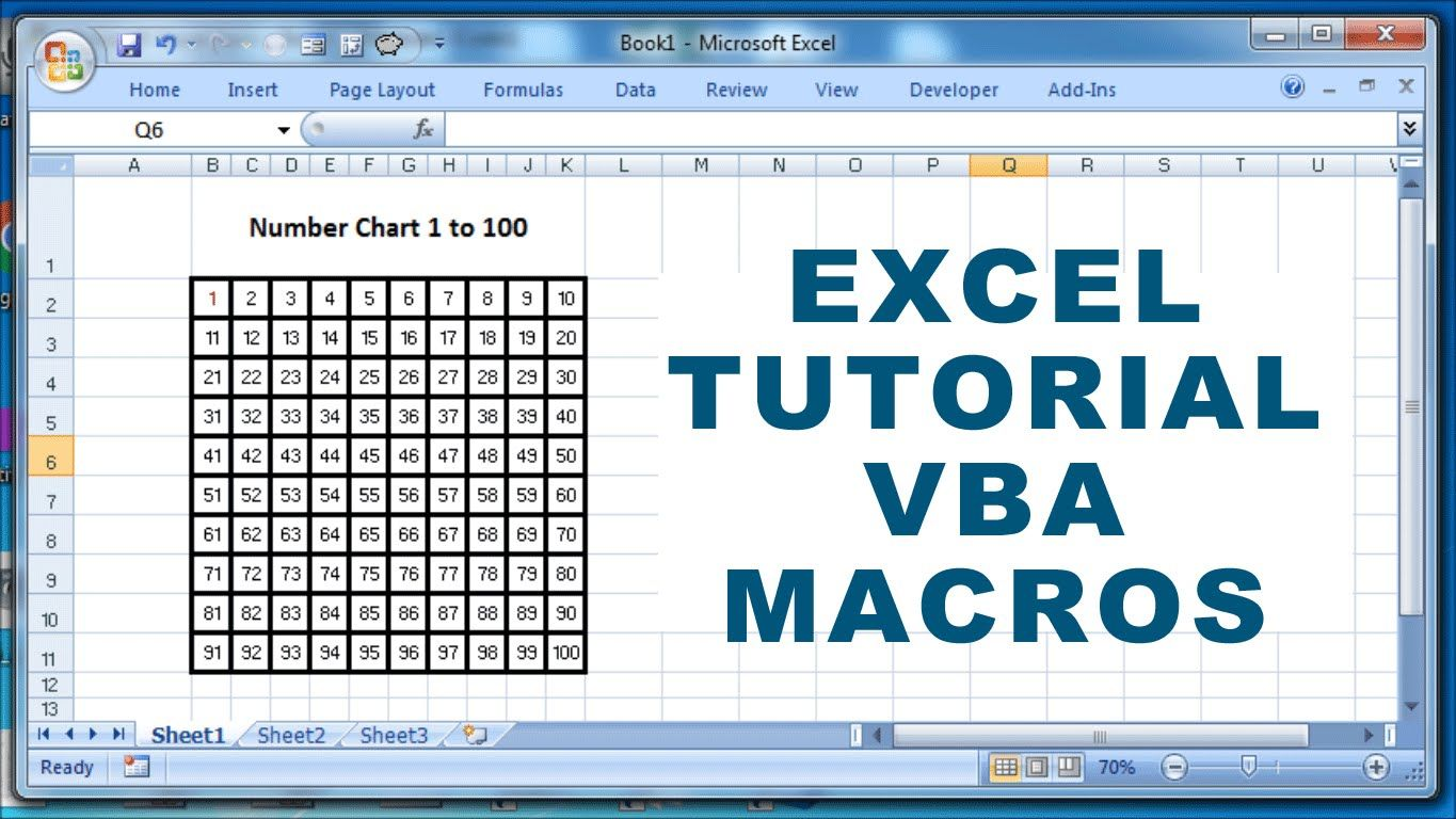 Excel Tutorial VBA Macros How to create a number chart 1
