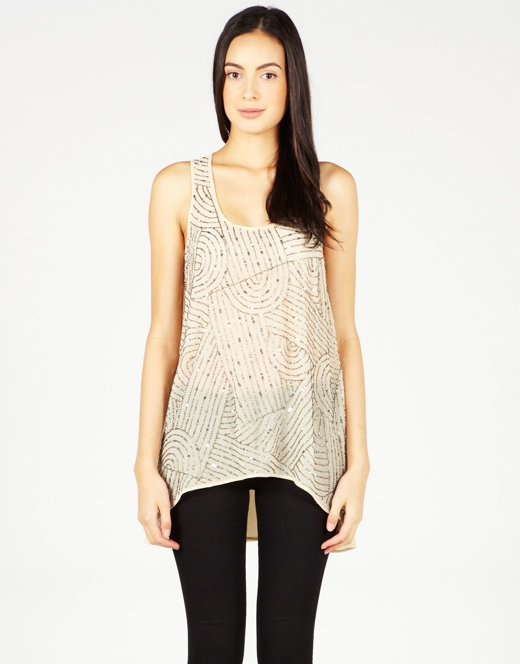 Limited Edition Embellished Tank by Glassons | Tank top ...