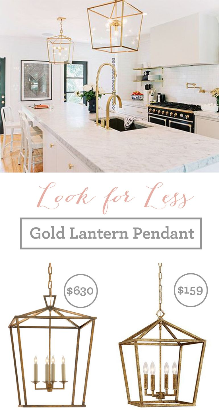 Look For Less Gold Lantern Pendant Gold Lanterns Kitchen