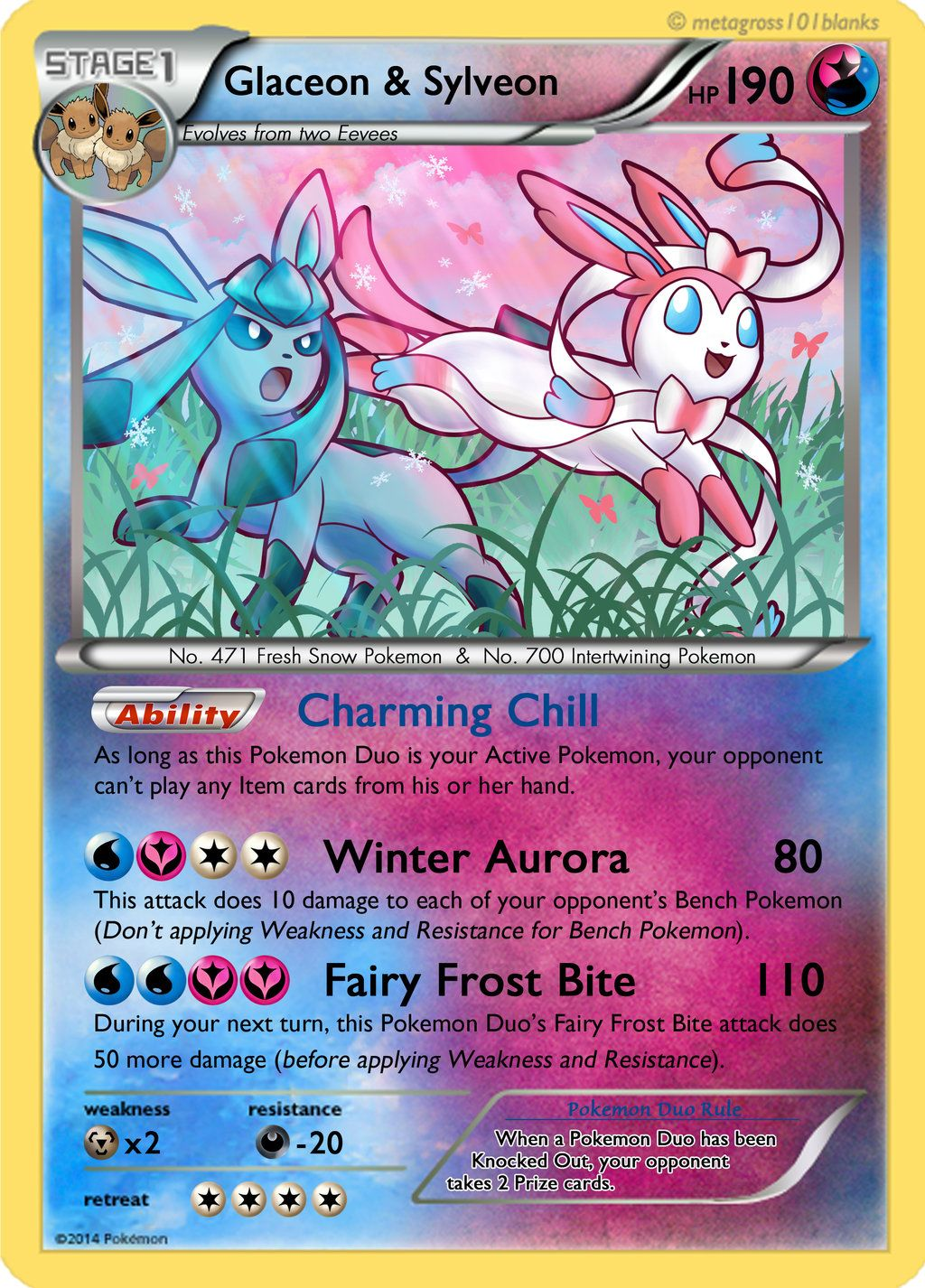 Glaceon and sylveon duo card by mr savath - Mentali pokemon ...