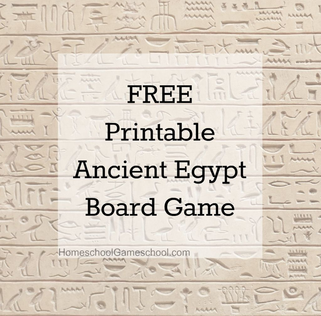 Free Printable Ancient Egypt Board Game