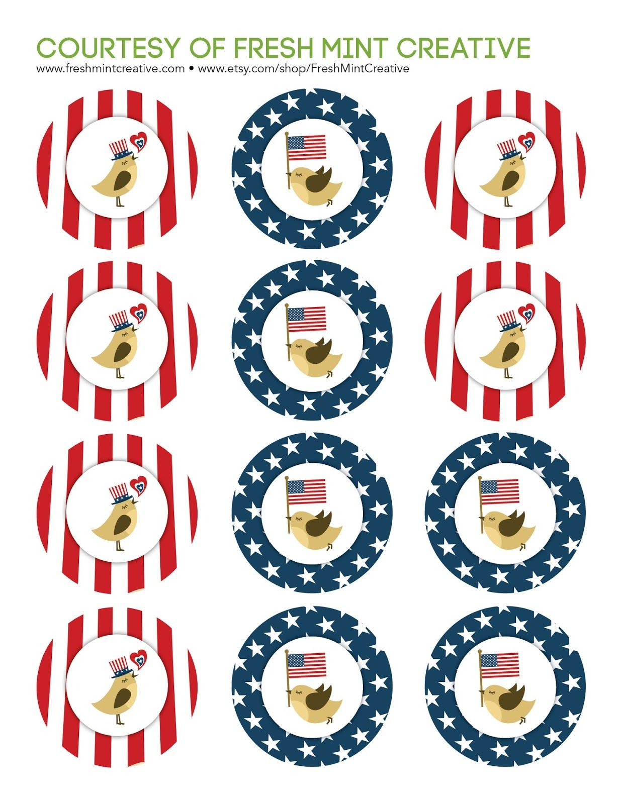 Free patriotic cupcake topper printables cakes pinterest cake free patriotic cupcake topper printables of july memorial day labor day buycottarizona Choice Image