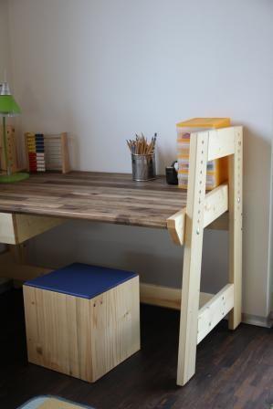 Kinderschreibtisch selber bauen  Kinder Hocker | Hocker, Selbstgemachtes und Blog