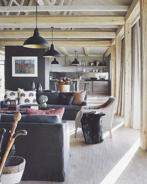Black wall in a neutral room--a real standout, especially for artwork.
